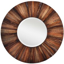 Kona Round Mirror in Natural Rustic
