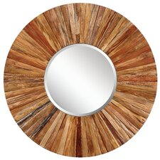 Berkley Wall Mirror in Distressed Light Natural Rustic