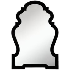 Harrison Wall Mirror in Glossy Black