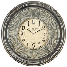 Lenna Wall Clock in Distressed Aged Black