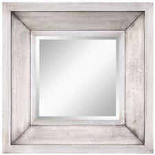 "<strong>Cooper Classics</strong> 28"" x 28"" Garner Mirror in Distressed Silver"