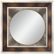 <strong>Cooper Classics</strong> Bella Mirror in Distressed Brown and Burnished Silver
