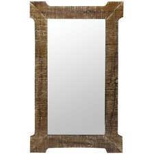 Branford Mirror in Distressed Natural Rustic Wood