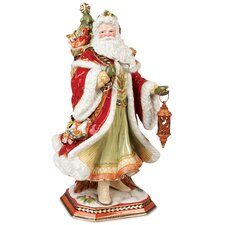 Damask Holiday Santa Figurine