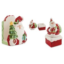 <strong>Fitz and Floyd</strong> 3 Piece Santa's Big Day Serving Set