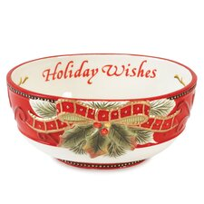 Damask Holiday Sentiment Bowl