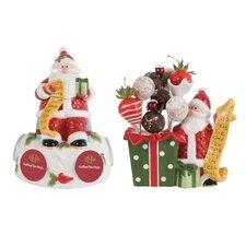 2 Piece Santa's Big Day Serving Set