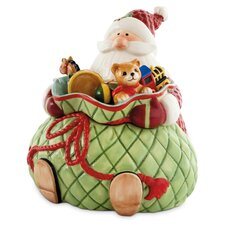 Santa's Big Day Cookie Jar