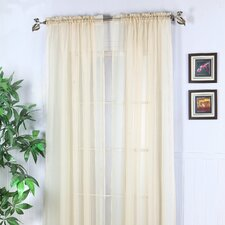 Abby Solid Voile Rod Pocket Curtain Panel (Set of 2)