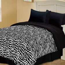Zebra Style Reversible Comforter