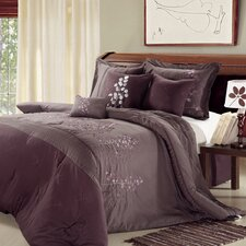 <strong>Chic Home</strong> Poppy Flower 8 Piece Comforter Set