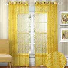 <strong>Chic Home</strong> Twinkle Semi Organza Grommet Curtain Panel (Set of 2)