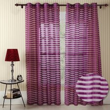<strong>Chic Home</strong> Heidi Faux Silk Organza Grommet Curtain Panel (Set of 2)