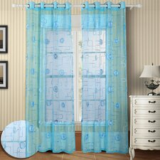 Moda Organza Grommet Curtain Panel Pair