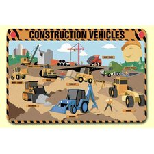 <strong>Painless Learning Placemats</strong> Construction Vehicles Placemat