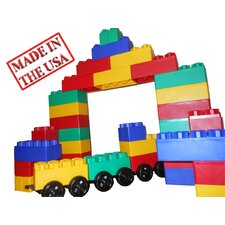 Jumbo Blocks 60 Piece Train Station Playset
