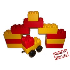 <strong>Serec Entertainment</strong> Jumbo Blocks 20 Piece Garage and Car Playset