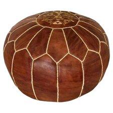 Moroccan Leather Pouf Ottoman I