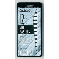 White Soft Pastels (Set of 12)