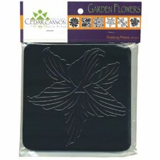 Garden Flowers Rubbing Plate Set (Set of 6)