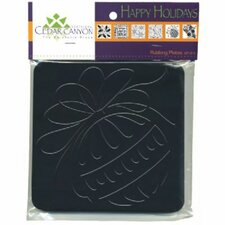 Happy Holidays Rubbing Plate Set (Set of 6)