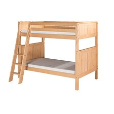 Bunk Bed with Angle Ladder and Panel Headboard