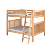 Full Over Full Bunk Bed with Angle Ladder and Mission Headboard