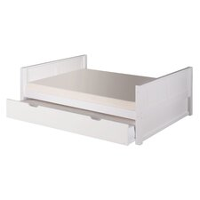 Camaflexi Full Size Platform Bed with Twin Trundle