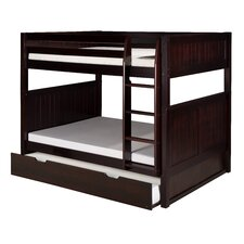 Full over Full Bunk Bed with Trundle and Panel Headboard