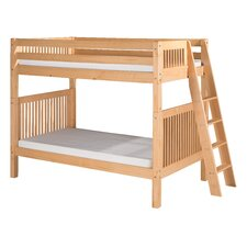 Bunk Bed with Lateral Angle Ladder and Mission Headboard