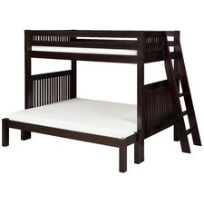 Twin over Full Standard Bunk Bed with Lateral Angle Ladder
