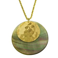 Yellow Gold Mother of Pearl Necklace