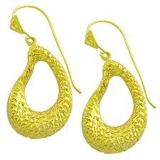 Diamond Cut Teardrop Dangle Earrings