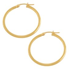 <strong>Fremada Jewelry</strong> Tube Hoop Earrings