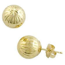 Diamond Cut Ball Earrings