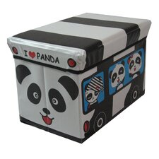Children's Panda Large Folding Storage Ottoman