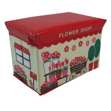 Children's Flower Shop Large Folding Storage Ottoman