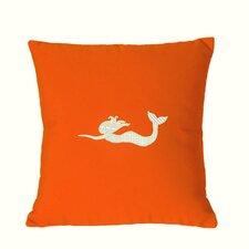 Mermaid Embroidered Sunbrella Fabric Indoor/Outdoor Pillow