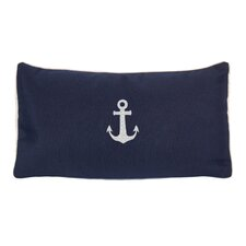 Sunbrella Beach Pillow with Embroidered Anchor and Terry Cloth backs