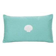 Sunbrella Beach Pillow with Embroidered Scallop and Terry Cloth backs