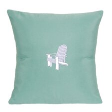 Sunbrella Lumbar Pillow With Embroidered Adirondack