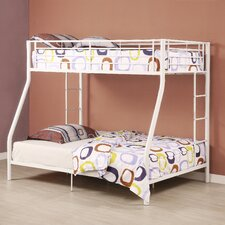 <strong>Home Loft Concept</strong> Sunrise Twin over Full Bunk Bed with Built-In Ladder