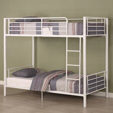<strong>Home Loft Concept</strong> Sunrise Twin over Twin Bunk Bed with Built-In Ladder