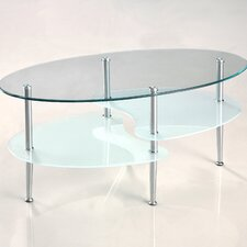 <strong>Home Loft Concept</strong> Glass Oval Coffee Table