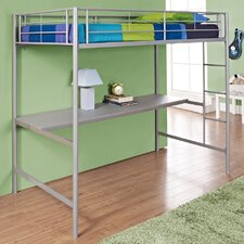 Metal Twin over Workstation Bunk Bed