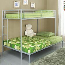 <strong>Home Loft Concept</strong> Metal Twin over Double Bunk Bed