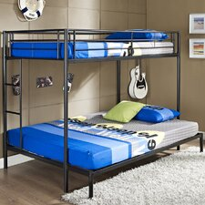 Metal Twin over Double Bunk Bed