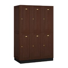 <strong>Salsbury Industries</strong> Executive Double Tier 3 Wide Locker