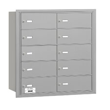 4B+ 10 Door Rear Loading Horizontal Mailbox for USPS Access