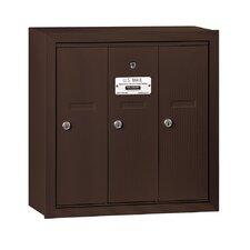 Vertical 3 Door Mailbox for USPS Access